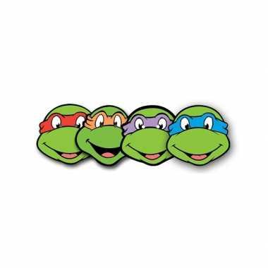 4 stuks ninja turtle maskers