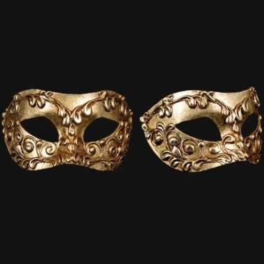 Barok oogmasker goud handgemaakt