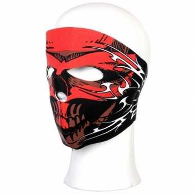 Biker masker rode schedel