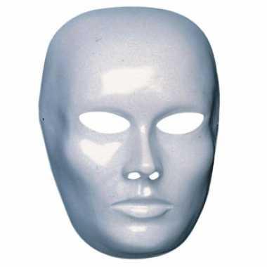 Blanco masker vrouwen gezicht
