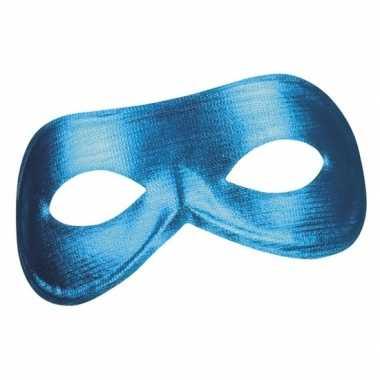 Blauw metallic oogmasker voor dames