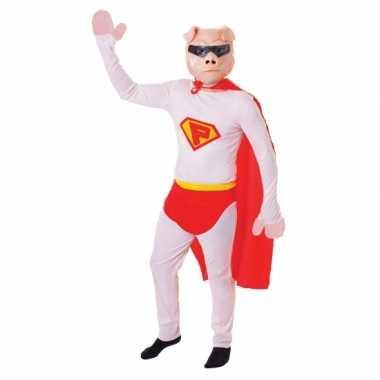 Carnaval super varken jumpsuit met masker