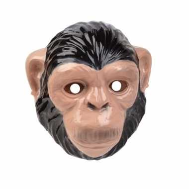 Chimpansee/apen masker 3d plastic 22cm
