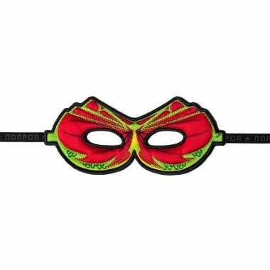 Draken oogmasker rood