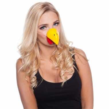Feestartikelen kippen neus masker