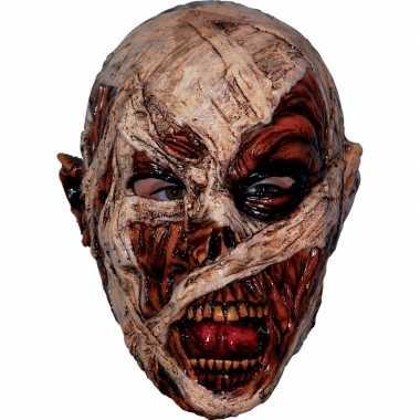 Ghoulish mummie latex masker voor volwassenen