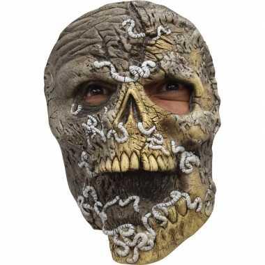 Ghoulish skelet horror latex masker voor volwassenen