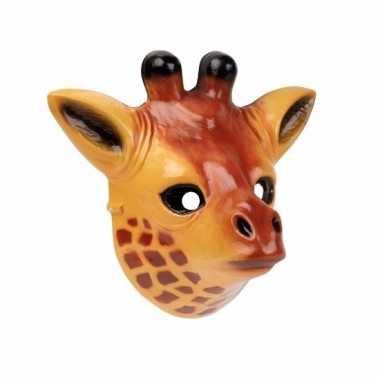 Giraffe masker 3d plastic 22cm
