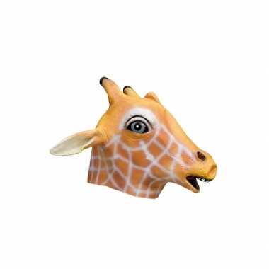 Giraffe verkleed masker van latex