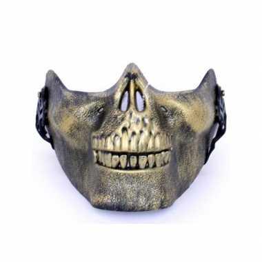 Goedkoop half masker gouden schedel