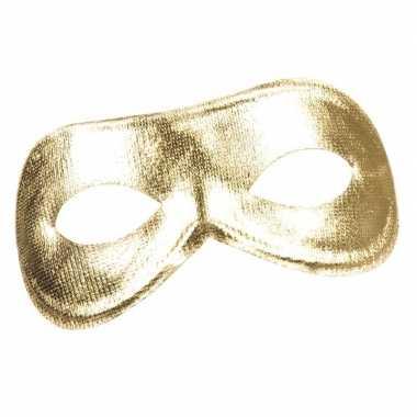 Gouden metallic oogmasker voor dames