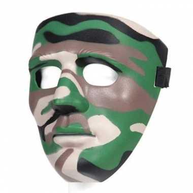 Groen leger gezichtsmasker