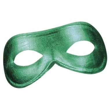 Groen metallic oogmasker voor dames