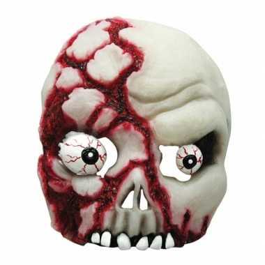 Half schedel masker met ogen