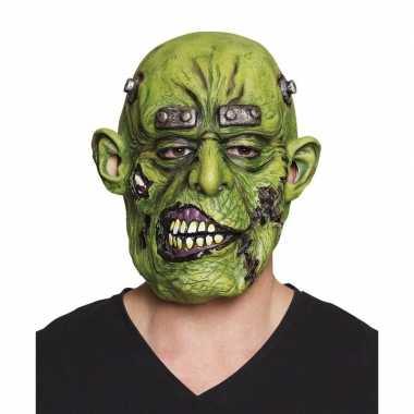 Halloween - groen eng halloween oger masker van latex
