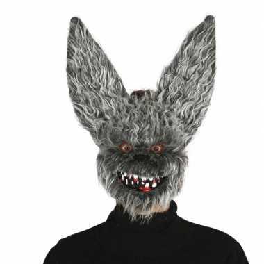 Halloween hazen masker met kunstbond