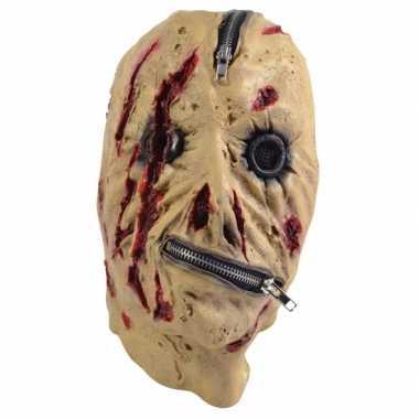 Halloween maskers met rits