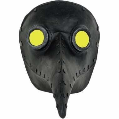 Halloween venetiaans zwart gezichtsmasker pestdokter pestmeester halloween