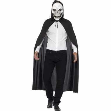 Halloween verkleed cape met doodshoofd masker
