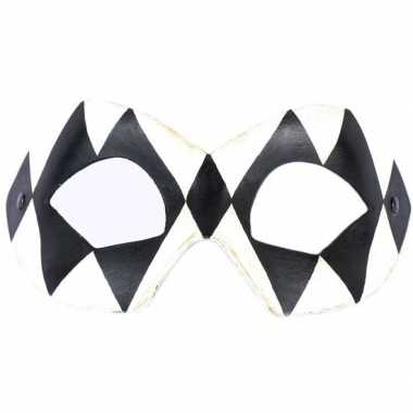 Handgemaakt decoratie oogmasker harlekijn