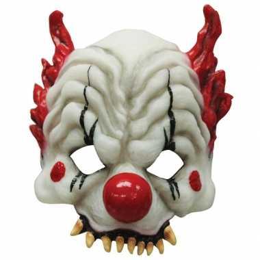 Horror clown half masker