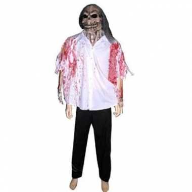 Horror masker met bloederige blouse