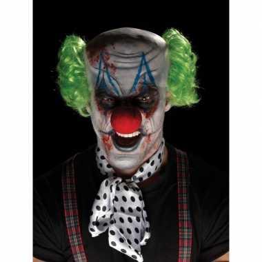 Horrorclown schmink set met masker en pruik