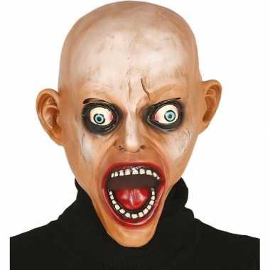 Kale zombie horror masker van latex