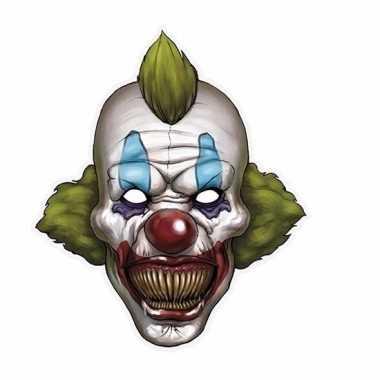 Kartonnen horror masker enge clown 30 x 35 cm