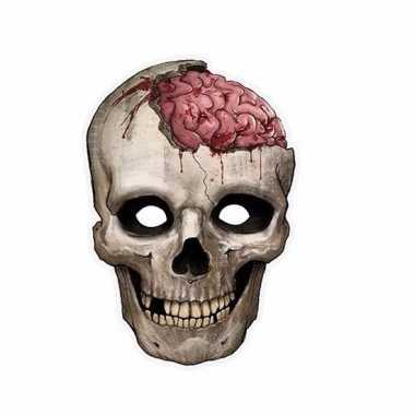 Kartonnen horror masker schedel 21 x 30 cm