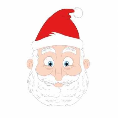 Kartonnen kerstman masker voor kinderen