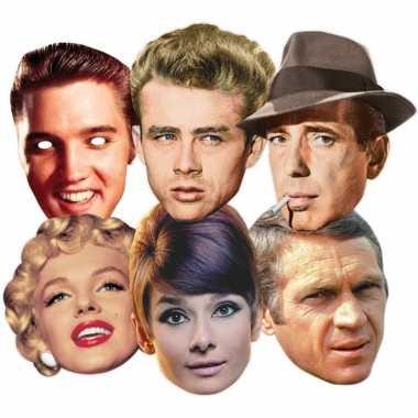 Kartonnen masker hollywood sterren