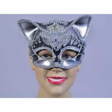 Katten oogmaskertje met glimmers
