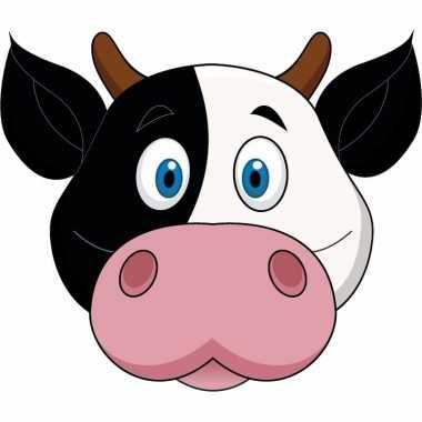 Koeien maskers van karton