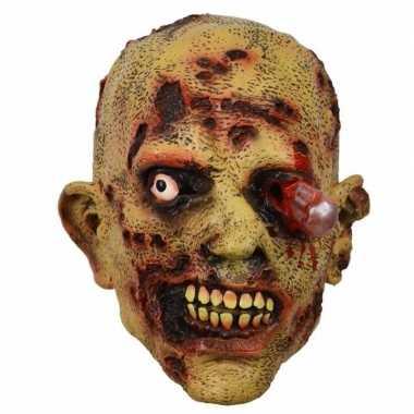 Latex horror masker zombie bloedend oog