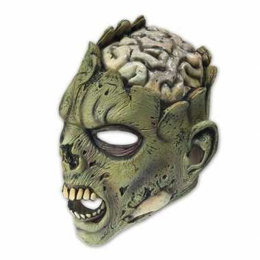 Latex horror masker zombie brain