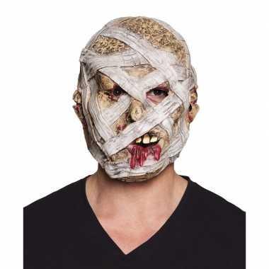 Latex mummie masker voor volwassenen