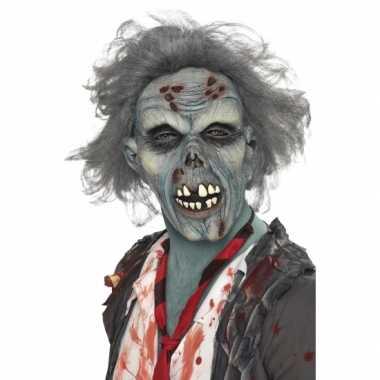 Masker zombie met grijs haar