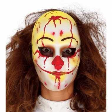 Moordenaar clown masker voor horror themafeest
