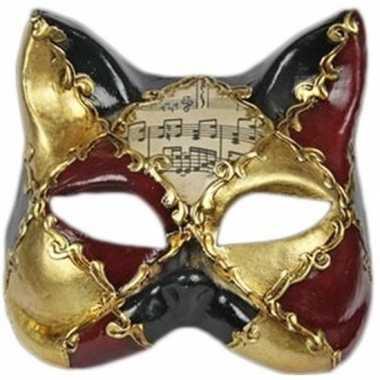 Muziek kat masker handgemaakt