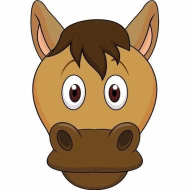Paarden maskers van karton