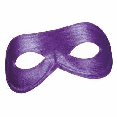 Paars metallic oogmasker voor dames