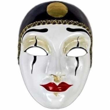 Pierrot masker handgemaakt