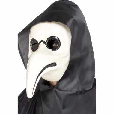 Plaag dokter masker wit voor volwassenen
