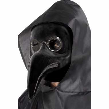 Plaag dokter masker zwart voor volwassenen