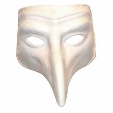 Plastic witte comedy maskers