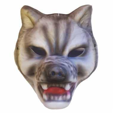 Plastic wolven masker kap