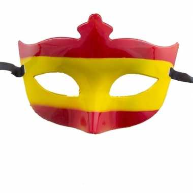 Rood met gele masker