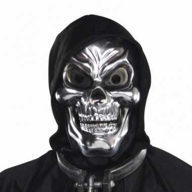 Schedel 3d masker zilver