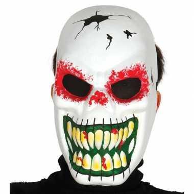 Skeletten masker voor horror themafeest